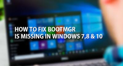 bootmgr is missing windows 7