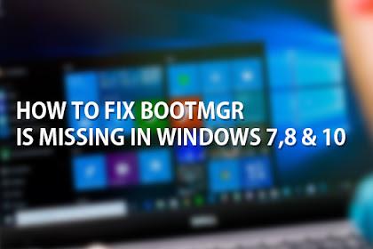 Cara Mengatasi Bootmgr Is Missing Di Windows 7 Dengan Usb (Bootmgr Is Missing Windows 7 Fix With Usb)