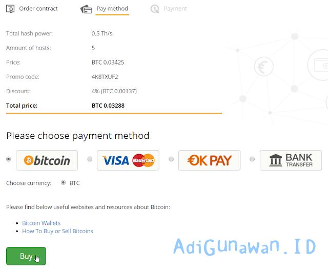 melakukan pembayaran dengan bitcoin di hashing24