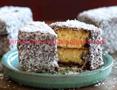 Foto Resep Lamingtons Cakes Australia Klasik Sederhana Spesial Asli Enak