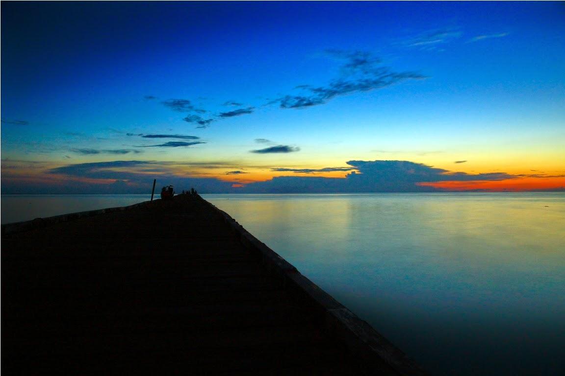 Sunset di dermaga Bohe Bukut