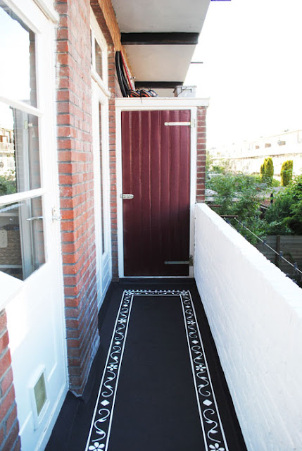 DIY tapijt balkon