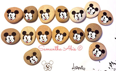 Bomboniere- Topolino -Mickey -Mouse-sassi-dipinti
