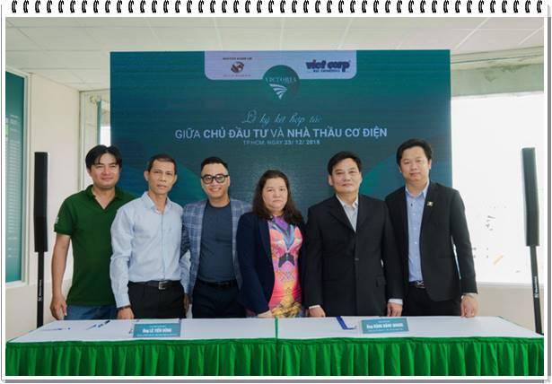Công ty Nguyên Hanh Lợi ký hợp tác lắp đặt cơ điện với công ty VIETCORP