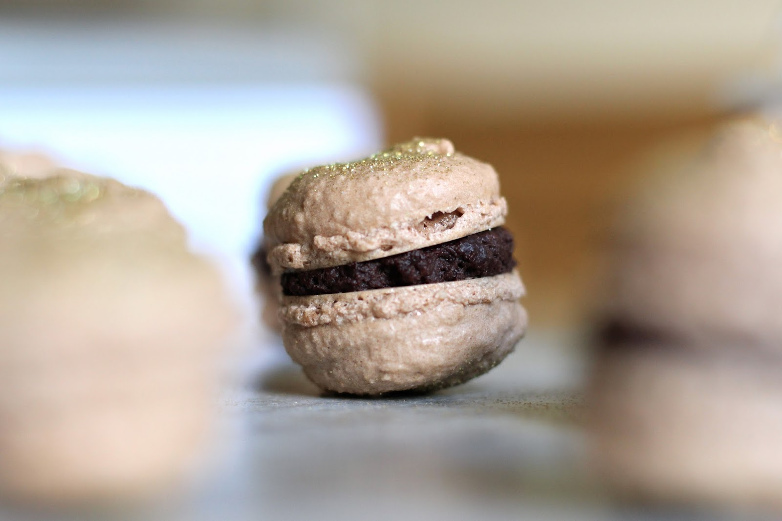 Mon Dessert chocolate macarons made from home
