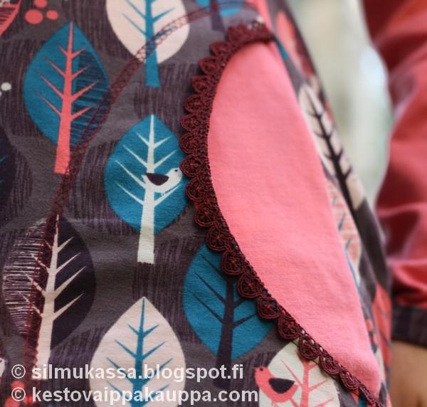 Raglanhiha mekko Lillestoff Leaves trikoosta 83cc29c2b5