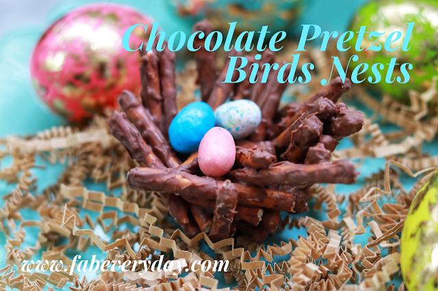 Chocolate Pretzel Bird Nests - Easy Easter Food