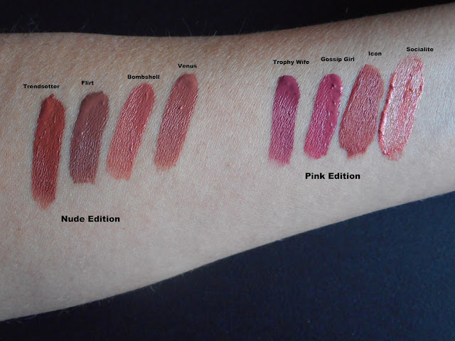 Huda Beauty Liquid Matte Minis swatches