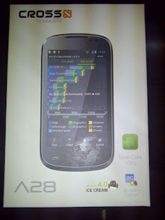 Cross Andromeda A28, Smartphone Android ICS Layar 4 Inci CPU Dual Core 1GHz