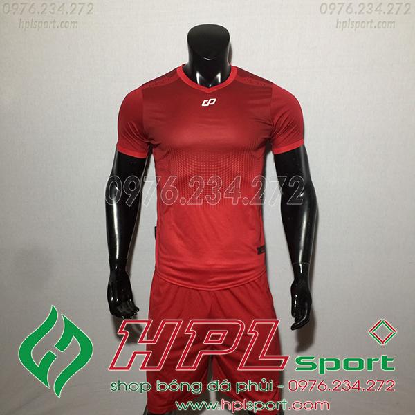 Áo bóng đá không logo CP Hnet màu đỏ