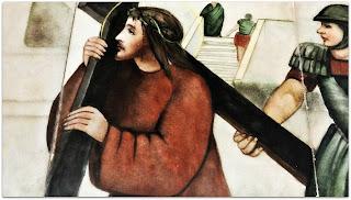 Via Sacra 02 - 'Jesus Carrega a Cruz às Costas', na Capilla Hotel de Villavicencio