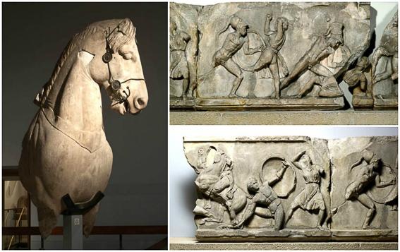 Ruinas Mausoleo Halicarnaso British Museum. Las 7 maravillas del mundo antiguo