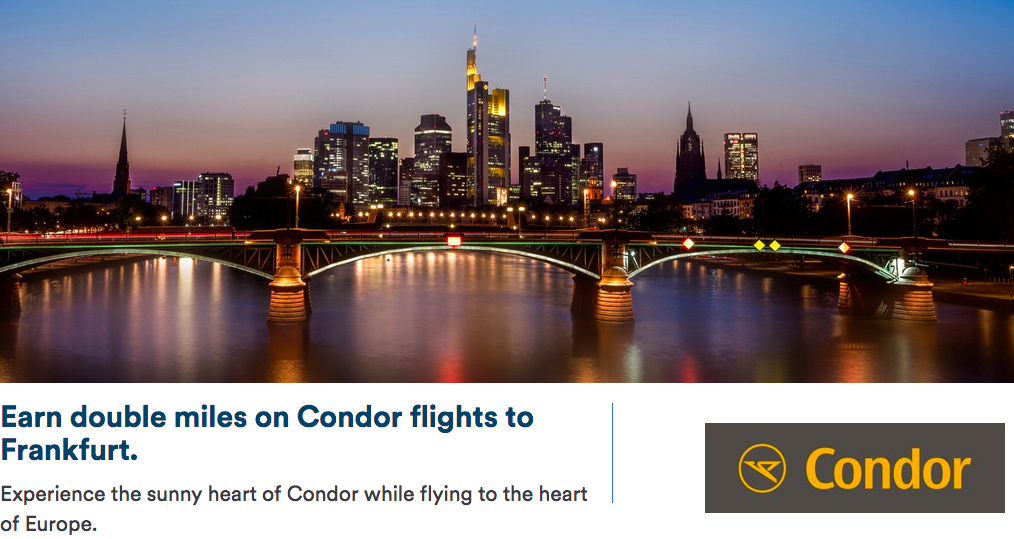 Double Mileage Plan Miles When You Fly On Condor From Vancouver B C To Frankfurt More Register By Aug 31 For Travel Oct 1 Apr 30 19