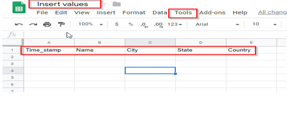 google spreadsheet as database