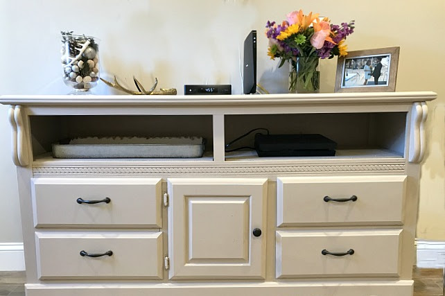 Turning a Dresser into a Farmhouse TV and Cable Box Stand