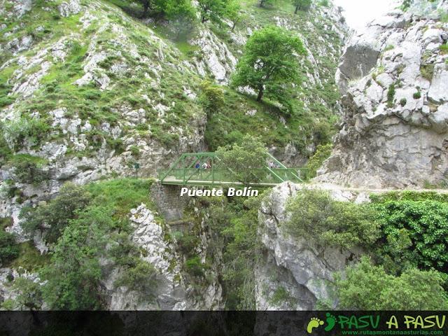 Puente Bolín, Ruta del Cares