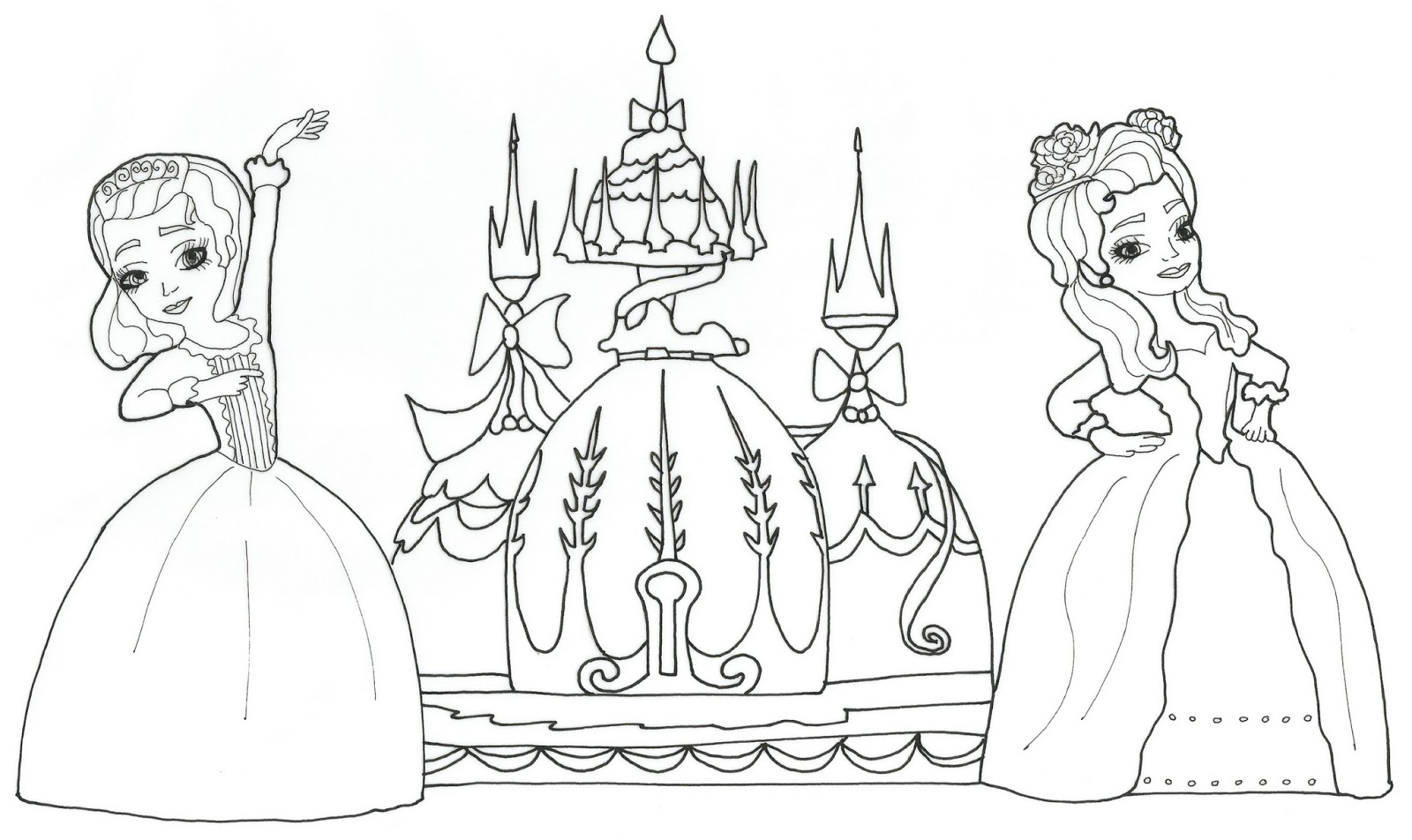 Sofia The First Coloring Pages The Shy Princess Sofia The First