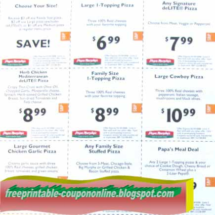 Papa murphy's online coupon code