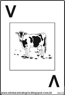 Baralho alfabético letra V