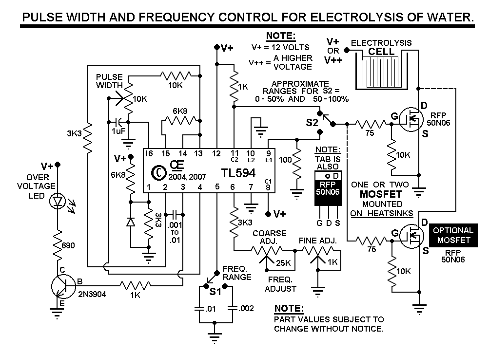 pwm for hho circuit diagram