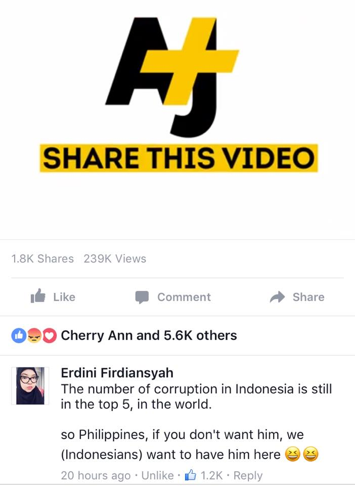 Indonesian Netizen Claims That They Want President Duterte To Be Their President: 'So Philippines, If You Don't Want Him, We Want To Have Him Here!'