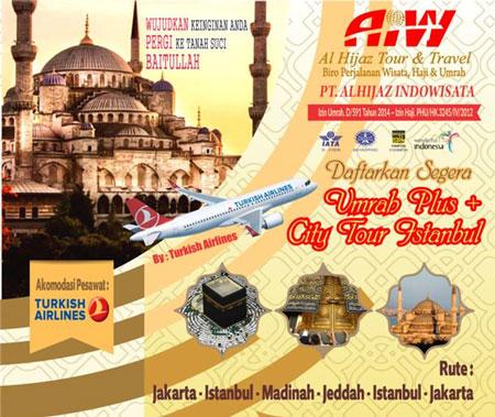 Paket Umroh Plus Turki 2018 Wisata Islami Keluarga