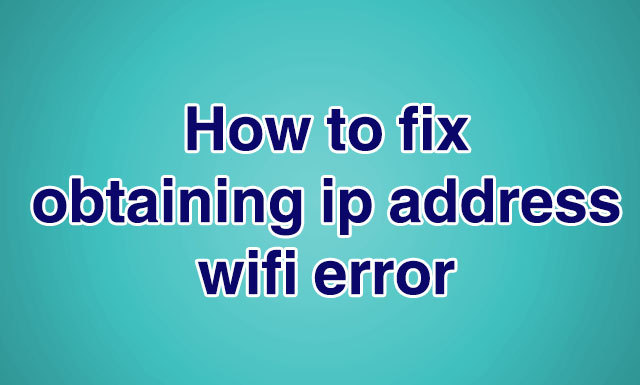 fix ip address problem in android