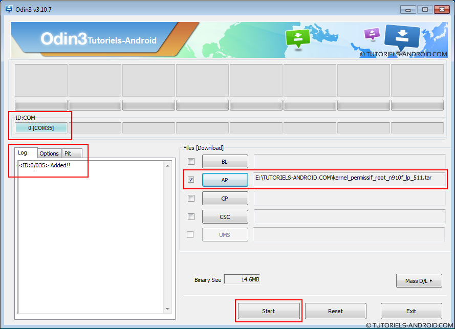 Installer kernel permissif - N910F