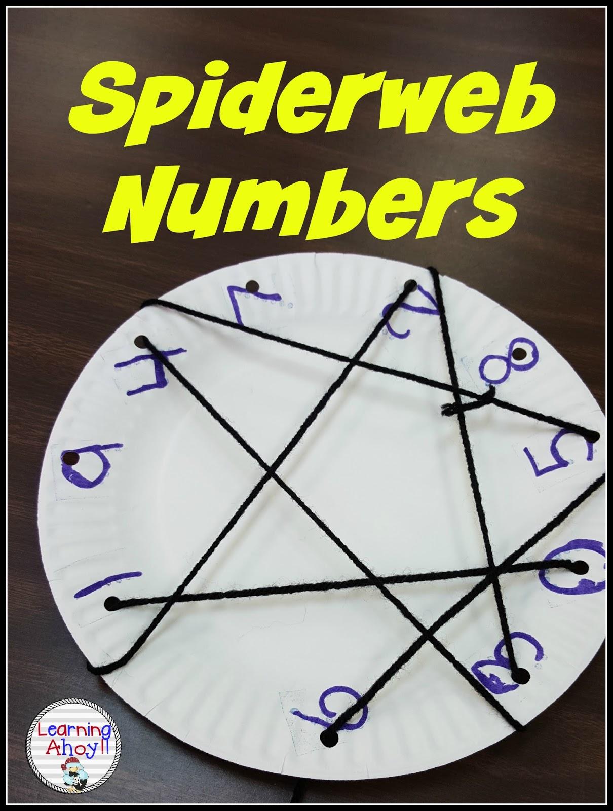 Number Practice With Spider Webs