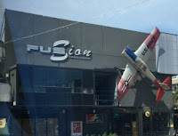 Fusion Pub & Restaurant in Aranyaprathet Thailand, a place nearby where Nattakan bus pick up our lunch