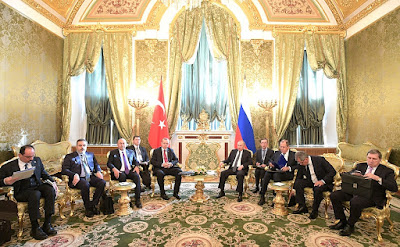 Russian President, President of Turkey, meeting in Kremlin.