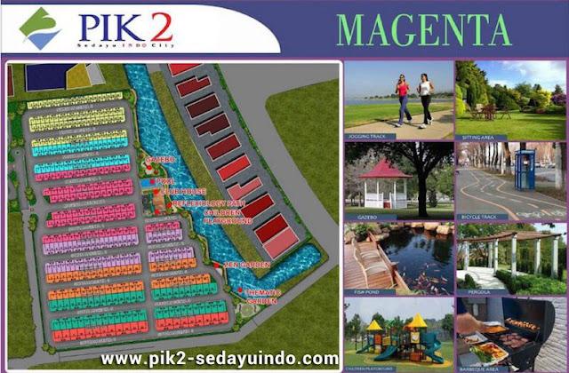 Siteplan rumah cluster Magenta PIK 2 Sedayu Indo City