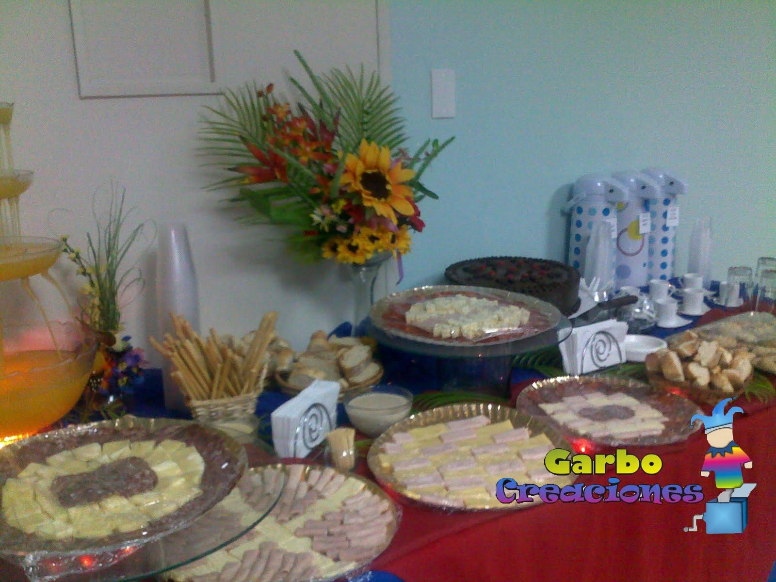Garbo creaciones mesas de desayunos y coffe break - Bandejas decoracion salon ...