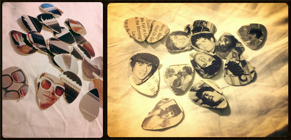 Elton John and Monkees guitar picks
