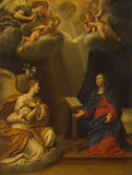 Annunciation by Francesco Albani - Christianity, Religious Paintings from Hermitage Museum