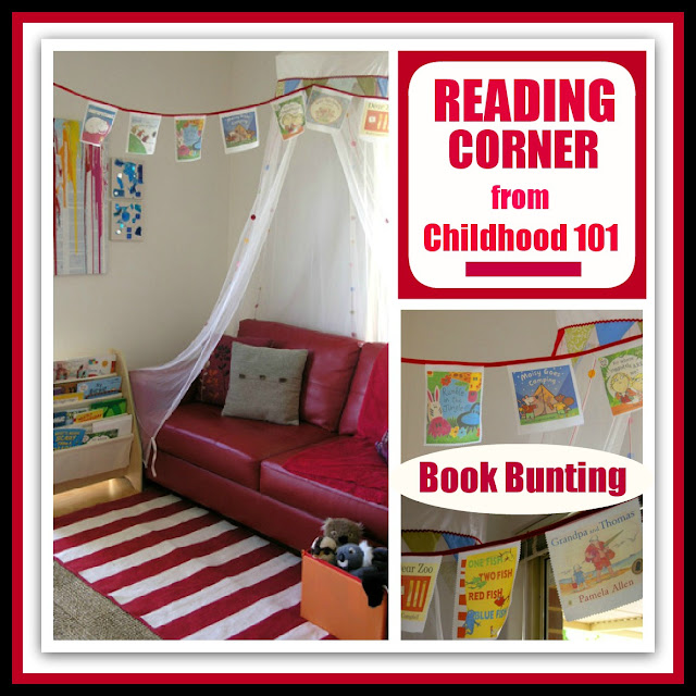 photo of: RoundUP at RainbowsWIthinReachReading Corner in the Home at Childhood 101: via Reading Corner RoundUP at RainbowsWithinReach