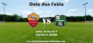 Data dan Fakta Liga Fantasia Roma vs Sassuolo Fantasi Manager Indonesia