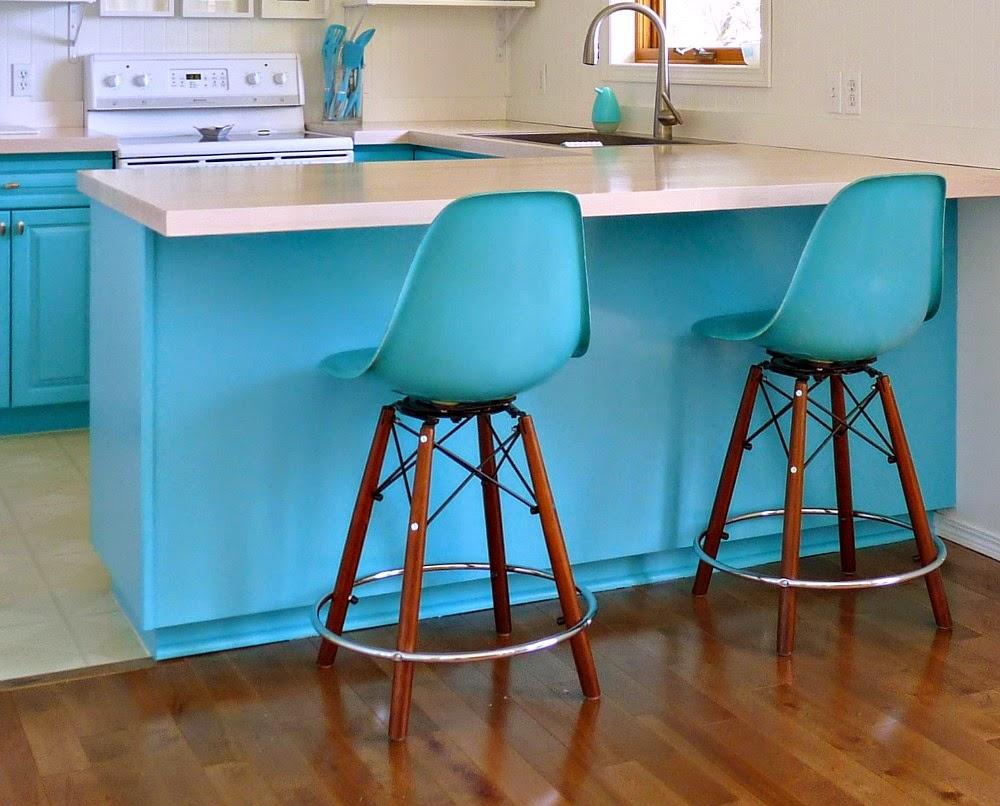 Kitchen Progress: Side Shell Stools From Modernica