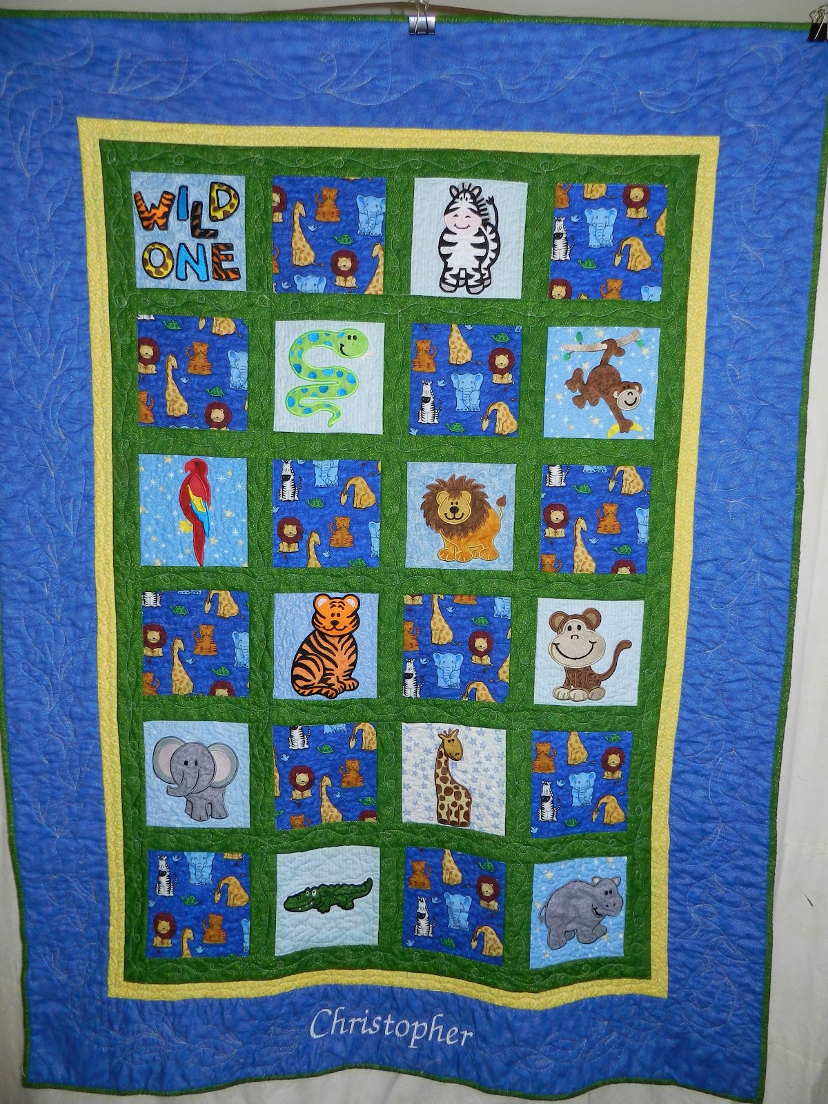 Dinah S Quilts And Embroidery Jungle Animals