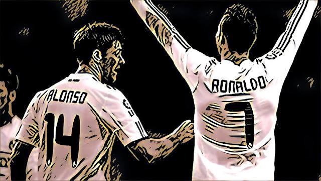 Cristiano Ronaldo y Xabi Alonso