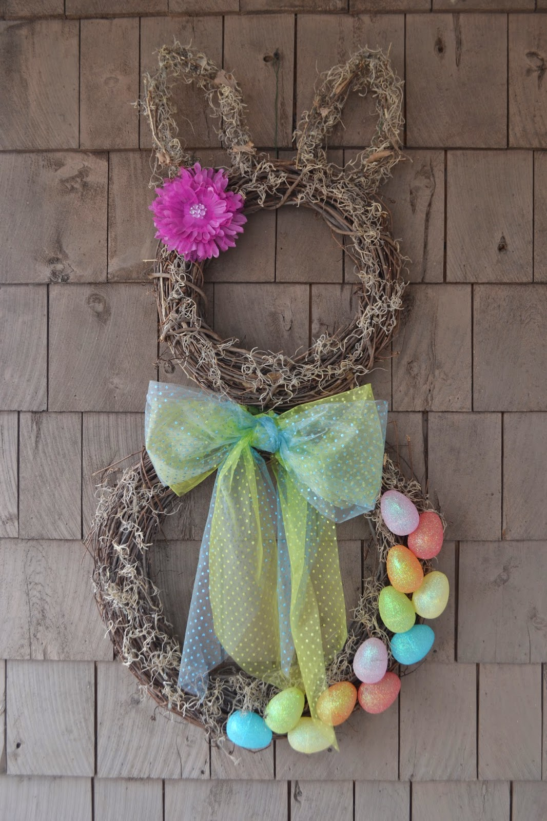 ... to it: How to make a Spring Easter Bunny Wreath ~ Thrifty Artsy Girl