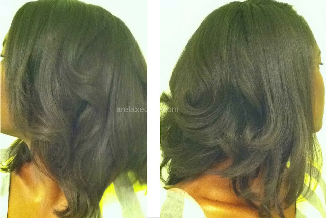 Check out the results of my final relaxer touch up of 2014 after 13 weeks of relaxer stretching. | arelaxedgal.com