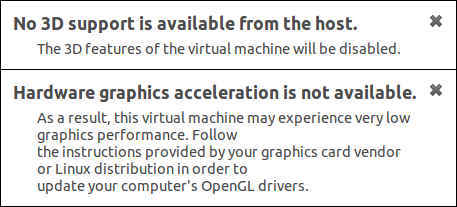 VMWare: No 3D support is available from the host | BBB-Solutions