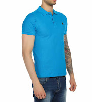 Mavi renk tişört kombin