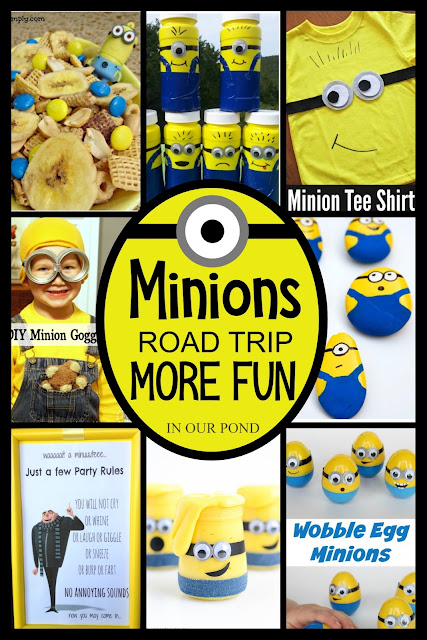How to Plan a Minions Road Trip for Kids // Party Through the USA // party // travel // road trip // travel with kids // party on wheels // despicable me // minions // banana // yellow // minion party