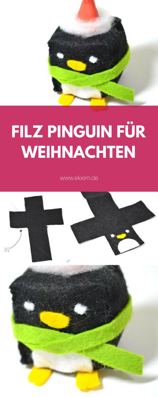 FILZ PINGUIN FÜR DEN WEIHNACHTSBAUM