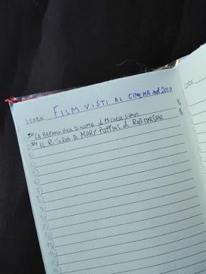 agenda rilegata a mano: liste