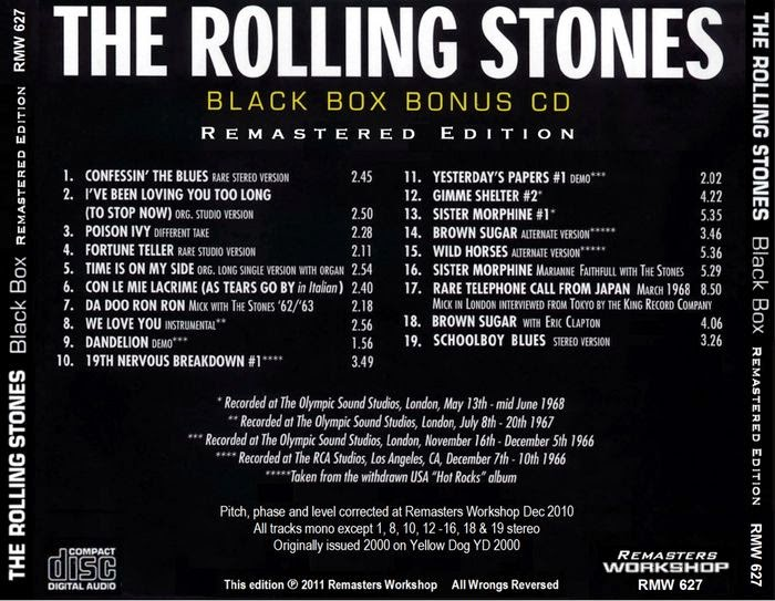 Rock Anthology The Rolling Stones Black Box Remastered