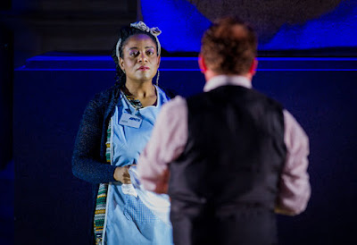Gwenneth-Ann Jeffers, Peter Auty  - Aida - Opera Holland Park - photo Robert Workman