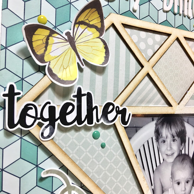 My Diamonds Scrapbook Page by Angela Tombari for YupplaCraft DT